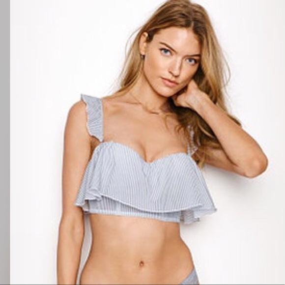 399b6bbc27ad6 Victoria secret DREAM ANGELS Flounce Long Line bra
